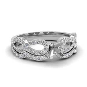 Infinity Ring Setting With Band
