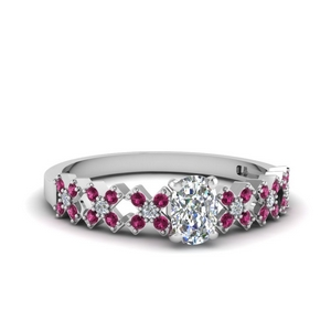 X Design Pink Sapphire Ring