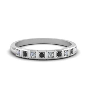 Block Pave Black Diamond Band