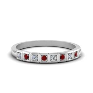 Diamond And Ruby 9 Stone Band