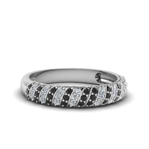 Platinum Twisted Diamond Band