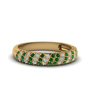 Emerald Custom Wedding Band