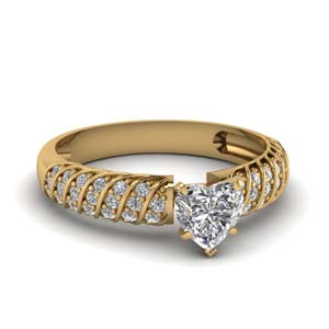 Perfect Match(Rope Design Pave Diamond Band)