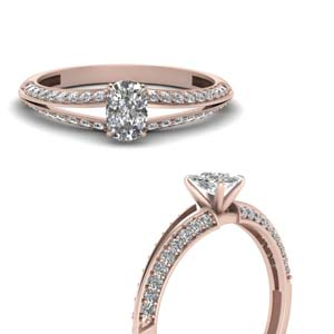 Knife Edge Diamond Ring