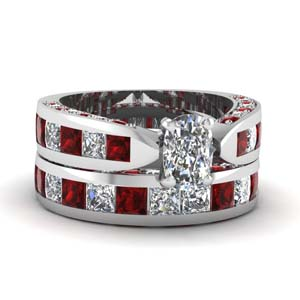 Accent Ruby Channel Ring Set