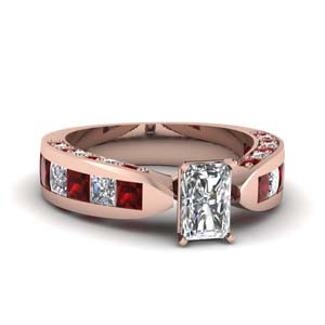 Cathedral Ruby Moissanite Ring
