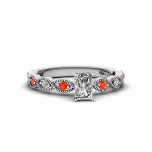 Twisted Shank Orange Topaz Ring