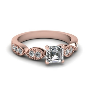 Petite Milgrain Diamond Ring