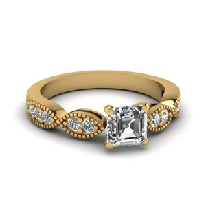 Milgrain Design Diamond Ring