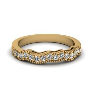 Milgrain Women Diamond Band
