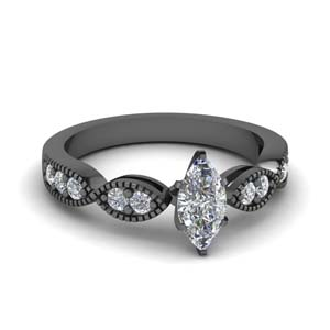 Pave Diamond Accent Ring