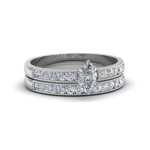 MIlgrain Design Lab Diamond Wedding Set
