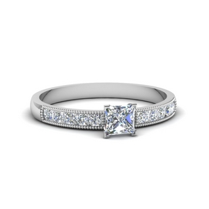 0.65 Ct. Diamond Milgrain Ring