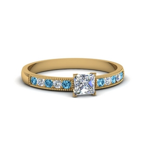 Classic Milgrain Engagement Ring