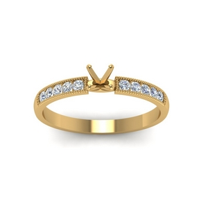 Semi Mount Petite Engagement Ring
