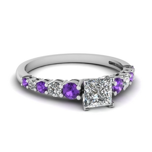 Purple Topaz With Basket Ring