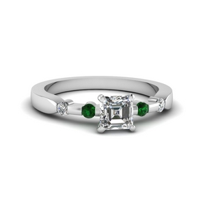 Accent Petite Emerald Ring