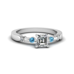 Bezel Topaz Accent Ring