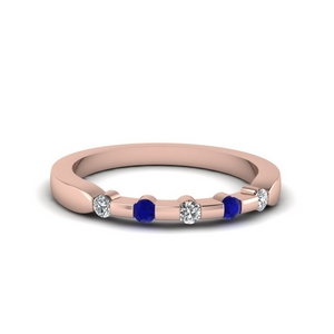 Sapphire Anniversary Band For Her