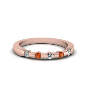 Orange Sapphire Band For Her