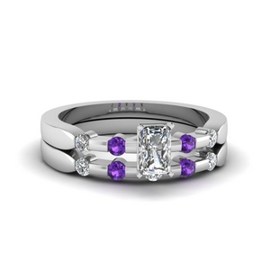Purple Topaz Bridal Set