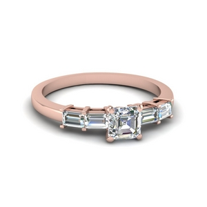 Basket Baguette Diamond Ring