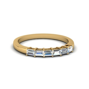 Half Carat 6 Baguette Diamond BAnd