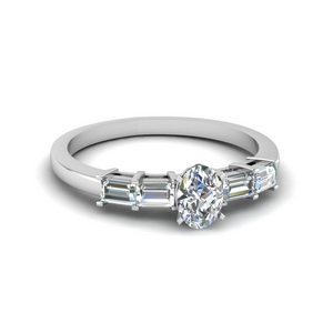 1 Ct. Baguette Bar Diamond Ring