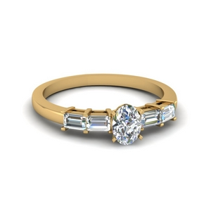 Lab Diamond Basket Baguette Ring