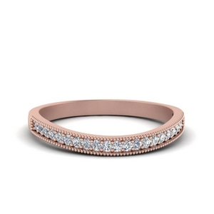 Milgrain Pave Wedding Band