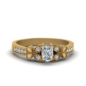Moissanite Cushion Cut Milgrain Rings