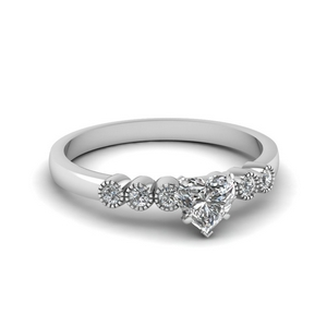 1 Ct. Diamond Heart Shaped Ring