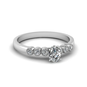 Platinum Petite Bezel Set Ring