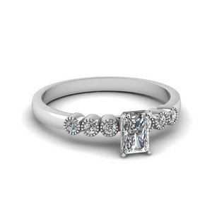 White Gold Radiant Cut Ring