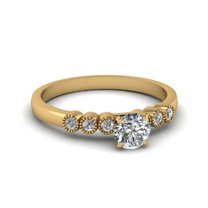 1 Karat Round Diamond Ring