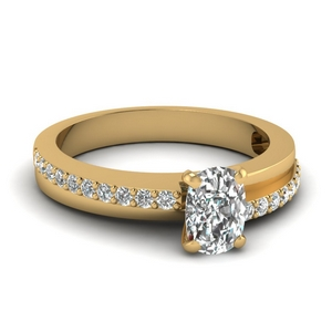 Cushion Cut Diamond Petite Ring