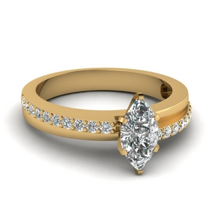 Marquise Diamond Bypass Ring