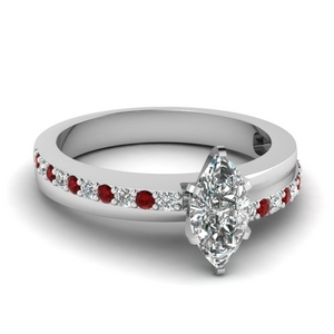 Ruby Crossover Marquise Cut Ring