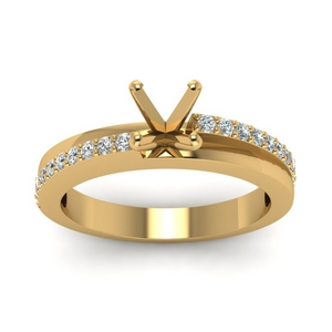 18k Gold Semi Mount Petite Ring