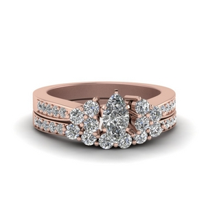 Marquise Wedding Rings With Band