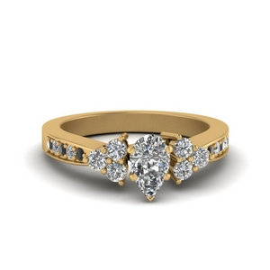 Pear Cluster Engagement Ring