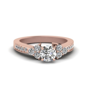 Pave Cluster Diamond Ring