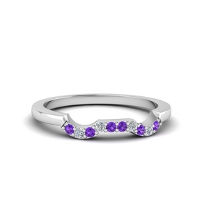 Curve Purple Topaz Band For Her