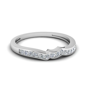 Channel Diamond Curved Band