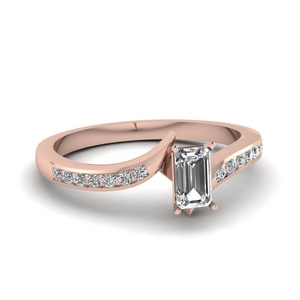 Twist Channel Diamond Ring
