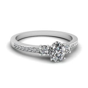 Oval Shaped 3 Stone Diamond Ring