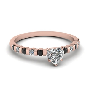 Simple Bar Set Diamond Ring