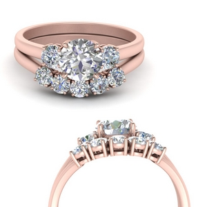 Round Diamond Wedding Sets