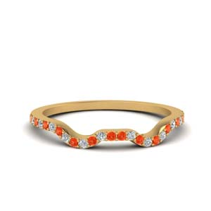 Curved Orange Topaz Band