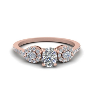 Cushion Diamond Petite 3 Stone Ring
